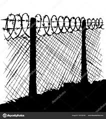 Barbed Wire Vector Drawing Stock Vector C Marinka 184730758