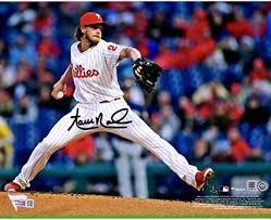 "Aaron Nola Philadelphia Phillies Autographed 8"" x 10"" Leg Up ..."