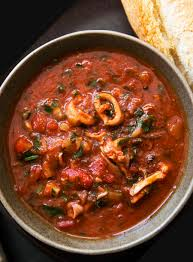 Calamari Stewed with Tomatoes Recipe ...