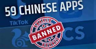 government imposed a ban on 59 chinese