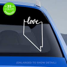 Amazon Com Nevada State Love Decal Nv Love Car Vinyl Sticker Add A Heart Over Las Vegas Reno Henderson Sparks Elko Fernley Handmade