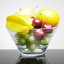 transpa crystal glass salad fruit