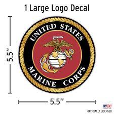 United States Marine Corps Logo Sticker Decalcomania