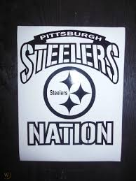 Pittsburgh Steelers Nation Vinyl Decal Window Wall Decal 24x36 1799288464