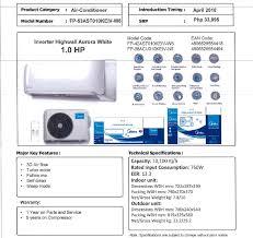 MaximaxSystems.com: MIDEA SPLIT-TYPE HIGHWALL AURORA WHITE AIR CONS