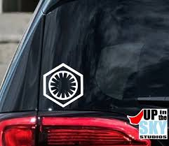 Star Wars First Order Vinyl Decal Bumper Sticker The Force Etsy