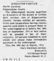 Clifton Bell Jordan Legal Estate - Newspapers.com