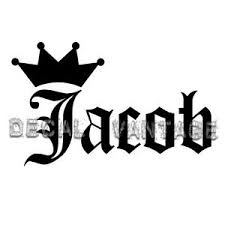 Jacob Vinyl Sticker Decal Crown Name Old English Choose Size Color Ebay