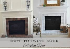 charming paint brick fireplace