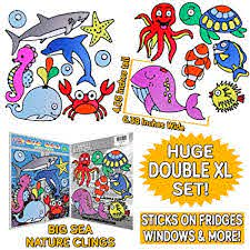 Sea Horse Reusable And Removable Ocean Fish And Marine Life Window Clings For Kids And Adults