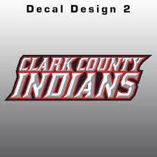 Clark County Indians Window Decal Design It Apparel
