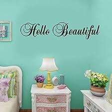 Hello Beautiful Vinyl Wall Decal Sticker Bathroom Mirror Inspirational Art As Sahkotyo Fi