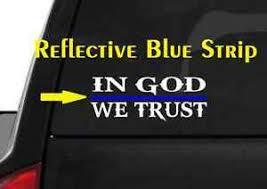 In God We Trust M50 Thin Blue Line Cop Police Vinyl Decal Sticker Car Window Ebay