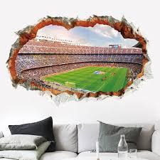 Vova 3d Vivid Football Soccer Wall Stickers For Kids Living Room Bedroom Wall Decals Boys Room Decoration