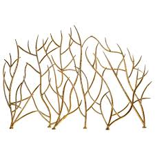 decorative gold leaf iron branches