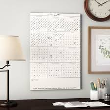 Dry Erase Wall Calendar Decal Wayfair