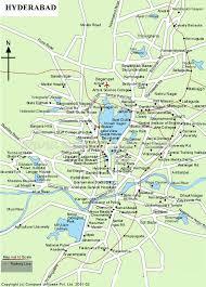 map hyderabad tourism maps
