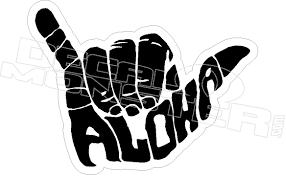 Hang Loose Aloha Shaka Hawaii Decal Sticker Dm Decalmonster Com