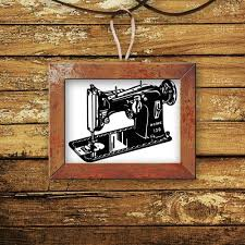 Retro Sewing Machine Vintage Decal Vinyl Sticker Wall Home Decor Vinylwallaccents On Artfire