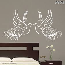 Wall Decals Two Love Doves Vinyl Surface Graphics Interior Decor By Decals Murals Wall Decals Dove Tattoo Design Dove Tattoo