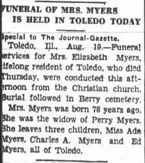 Elizabeth Hester Goodwin (Myers): Funeral Notice - Newspapers.com