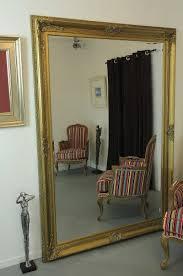 antique style ornate big gold mirror