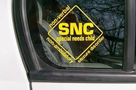 Special Needs Child Car Window Sticker Must Get This For Our Car Special Needs Kids Special Needs Custom Window Decals