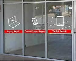 Cell Phone Tablet Laptop Repair Business Vinyl Decal Sticker Window Lettering Ebay