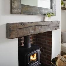 oak beams for fireplace made to