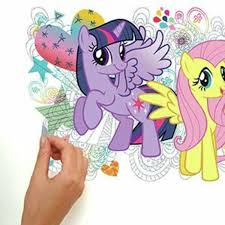 Room Mates Popular Characters 6 Piece My Little Pony Wall Decal Reviews Wayfair