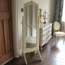 cream full length cheval mirror