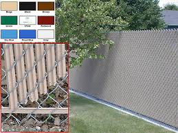 Chain Link Fence Privacy Slats Single Wall Bottom Locking Slat 9 Colors Ebay