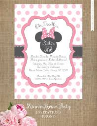 Minnie Mouse Invitation Editable Birthday Invitation Template