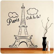 Paris Eiffel Tower Ooh La La Wall Decal Decor France Love Hearts Large Nice Sticker Paris Room Decor Paris Theme Decor Paris Rooms