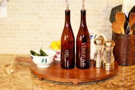 amber wine bottle oil and vinegar set