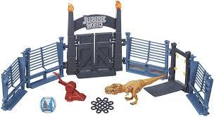 Amazon Com Jurassic World Tyrannosaurus Lockdown Playset Toys Games