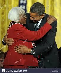 U.S. President Barack Obama hugs Ida Martin of South Carolina ...