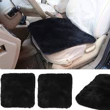 set of 2 lambskin wool fleece car seat