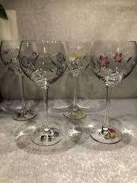 crystal balloon wine glasses hand cut