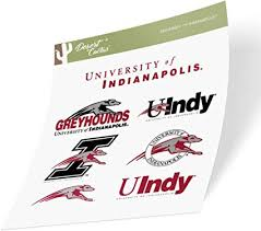 Amazon Com University Of Indianapolis Uindy Greyhounds Ncaa Sticker Vinyl Decal Laptop Water Bottle Car Scrapbook Type 2 Sheet Arts Crafts Sewing