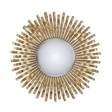 gold sunburst iron wall mirror temple
