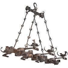 french rectangular shaped forged iron
