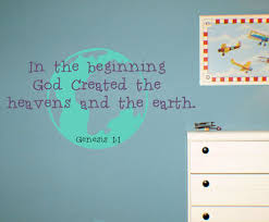 God Created Heaven Earth Wall Decals Trading Phrases