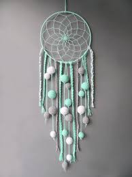 Nursery Dream Catcher Mint Decor Wall Hanging Kids Room Decor Etsy
