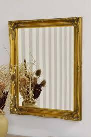 ornate shutter style wall mirror 32cm