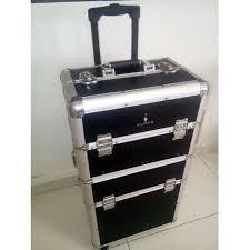 gladking high quality black trolley box