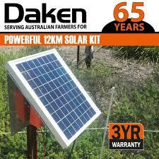Daken 12km Bt12 Solar Power Electric Fence Energiser For Sale Online Ebay