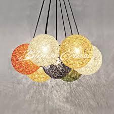 rainbow spheres mini chandelier
