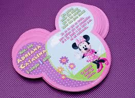 Invitaciones De Cumpleanos De Minnie Mouse Para Regalar 9 Con
