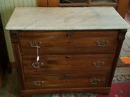 antique marble top 3 drawer dresser